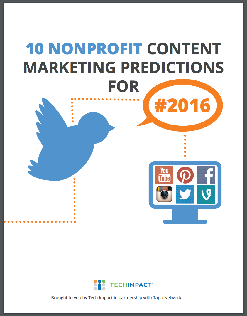 Nonprofit Content Marketing Predictions