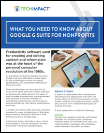 Google G Suite Report Cover
